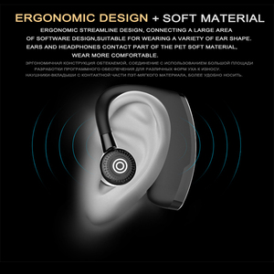 Image 3 - M&J V9 Handsfree Business Bluetooth Headphone With Mic Voice Control Wireless Bluetooth Headset For Drive Noise Cancelling
