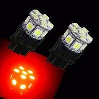 PA LED 10PCS x 3157 13SMD 5050 RED LED Auto Back Car High Mount Brake Light 12V