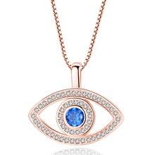 3b87f5faf232 Collar de Zirconia cúbica azul de lujo para mujer Chapado en plata oro  cristal Diamante de imitación colgante collares regalo C3.