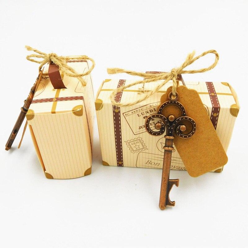 50 pièces/ensemble personnalisé clé en forme de bière décapsuleur mariage Souvenir anniversaire fête cadeau vin ouverture outils pour Bar-ware