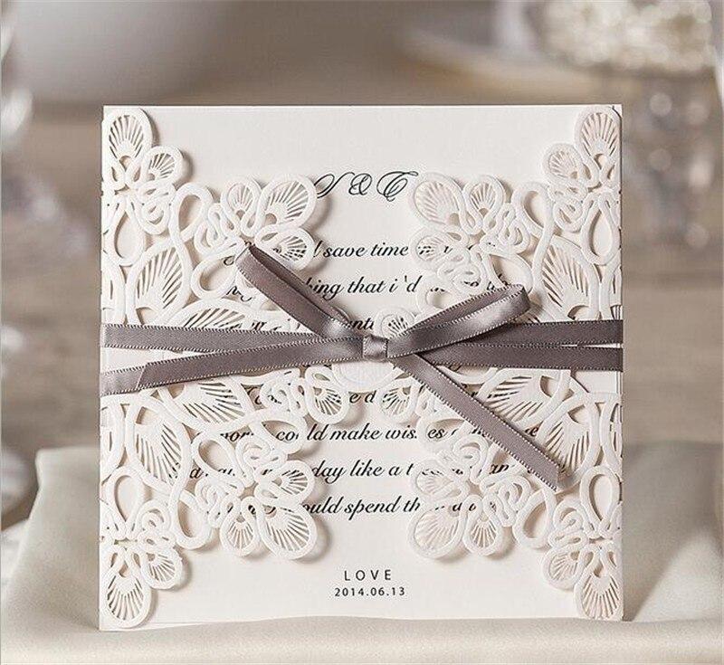 18PCS/Lot Party Supplies Wedding Invitations Laser Cut Hollow Flower ...