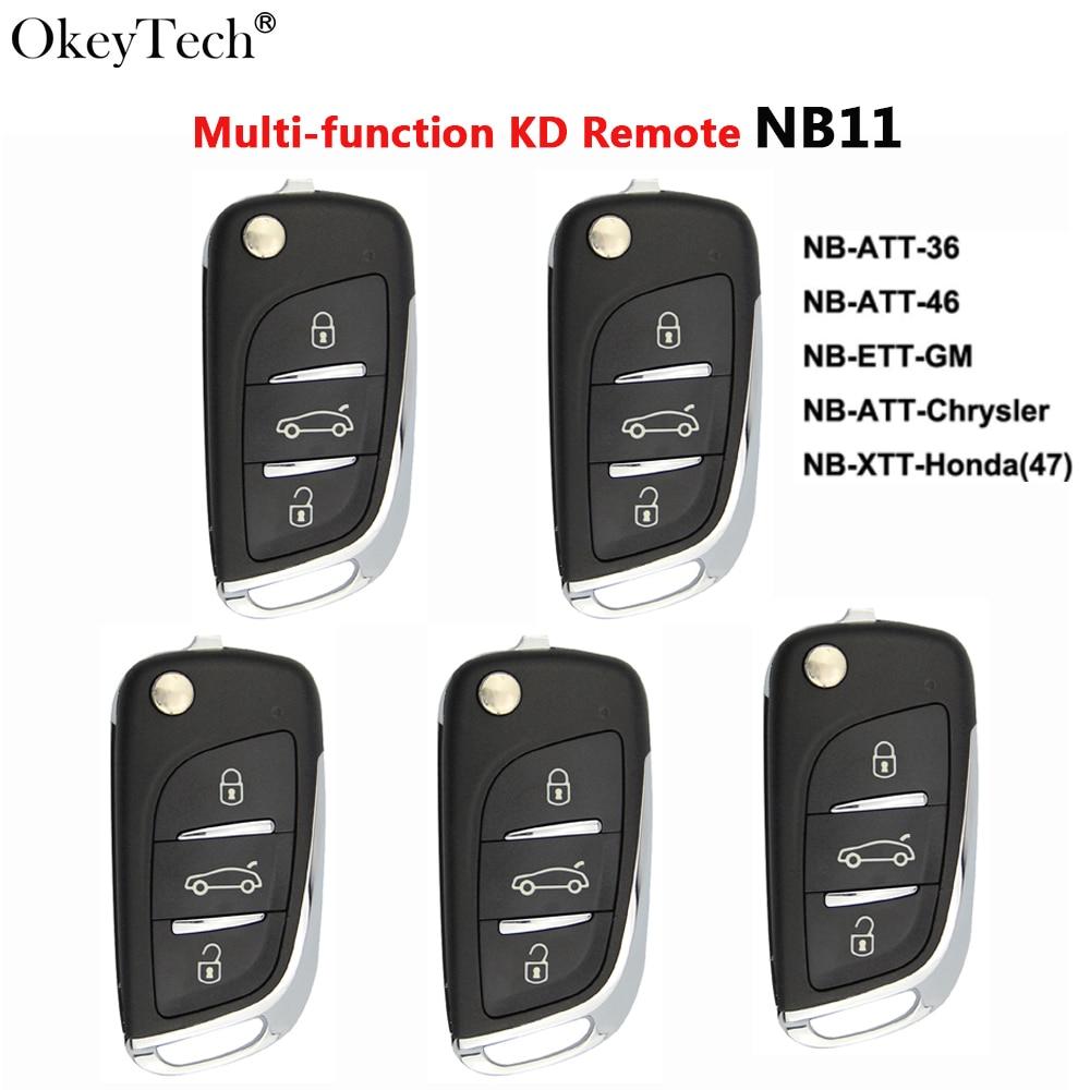 Okeytech 5PCS/LOT Multi-functional KD Key Remote Control Auto Car Key Keydiy 3BTN For Keydiy KD900 URG200 KD200 Key Programmer