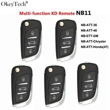 Okeytech 5 יח\חבילה רב תפקודי KD מפתח שלט רחוק אוטומטי רכב מפתח Keydiy 3BTN עבור Keydiy KD900 URG200 KD200 מפתח מתכנת