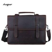 Vintage Suitcases Genuine Leather Briefcase for Men Leather Laptop Bag Men Business Bag Attache Case Hombres Maletin Portatil