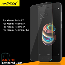2Pcs Tempered Glass For Xiaomi Redmi 7 5A 4A Screen Protector Protective Phone Film