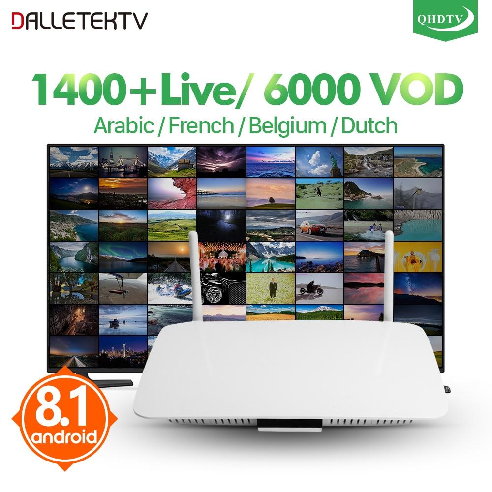 IPTV di Android Set Top Box Android 8.1 Q1404 IPTV Box 1 Anno QHDTV Arabo IPTV Conto Arabo Francese Algeria Libano IP TV Codice