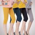 2017 Novo de Algodão Mulher Grávida Leggings Cintura Alta Leggings YFZ0018 Ventilação Confortável Para As Mulheres