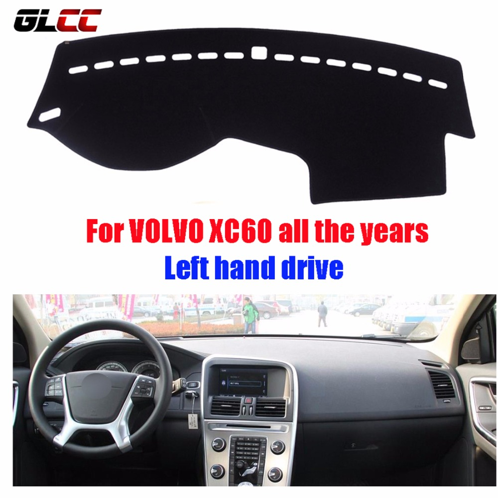 Car dashboard covers mat for volvo xc60 all the years left hand drive dashmat pad dash cover auto dashboard accessories