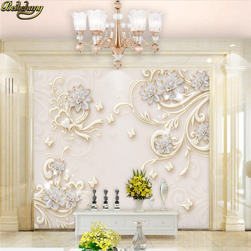 Beibehang Custom Photo Wallpaper Murals Embossed Jade Carving Wall Paper Decor Mural Living Room Decoration Papel De Parede 3D