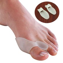 2Pcs Silicone Gel Bunion Splint Big Toe Separator Overlapping Spreader Protection Corrector Hallux Valgus Foot Massager