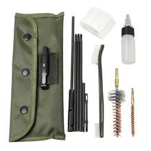 Kit universal de limpeza de arma, AR-15/m16, bunda, estoque, kits de limpeza para todos os m16 e ar15, variantes, arma de rifle tático conjunto de escovas
