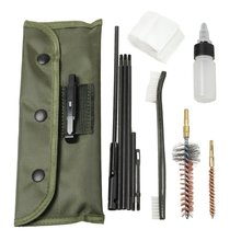 AR-15 / M16 Gun Cleaning Kit Universal Butt Stock Cleaning Kits For all M16 and AR15 Variants Tactical Rifle Gun Brushes Set