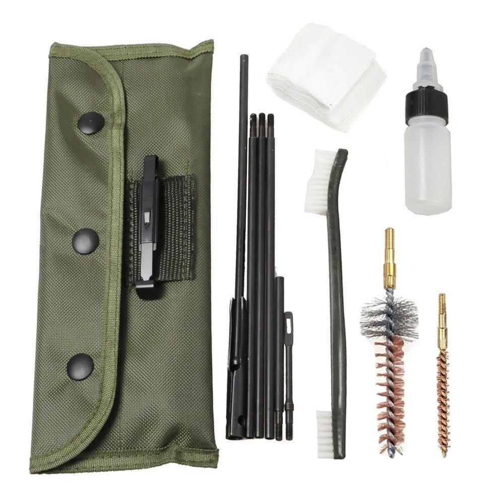Kit de nettoyage de pistolet AR-15/M16 Kits de nettoyage de Stock bout à bout universels pour toutes les variantes M16 et AR15 jeu de brosses de fusil tactique