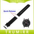 22mm quick release faixa de relógio de borracha de silicone para samsung gear s3 clássico fronteira resina alça de pulso pulseira cinto preto azul
