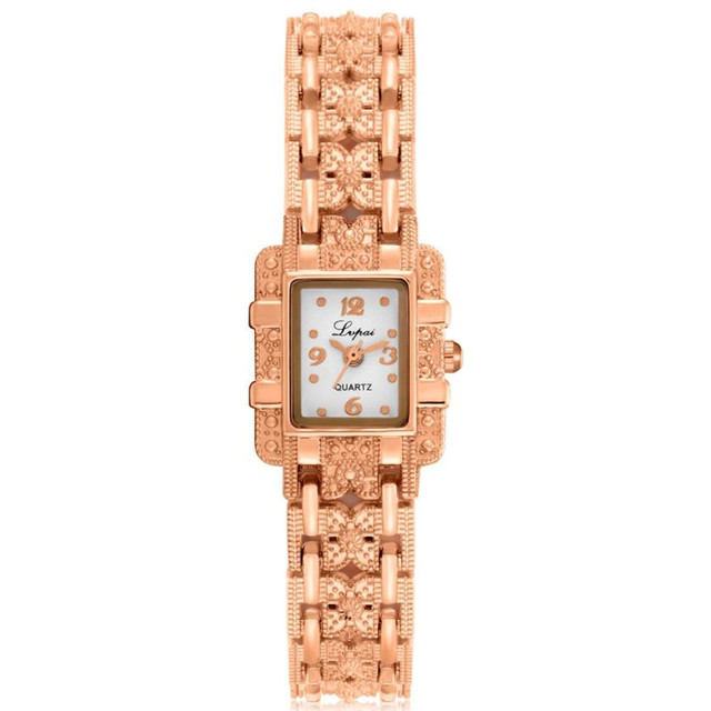 2018 Luxury Women Bracelet Watches Rose Gold Women Rhinestone  Stainless Steel Band Quartz Wrist Watch relogio feminino