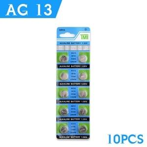 Image 2 - YCDC Прямая поставка + Лидер продаж + 10 шт. AG13 LR44 LR1154 SR44 A76 357A 303 357 батарейка для монет 1,55 В щелочная для часов и игрушек