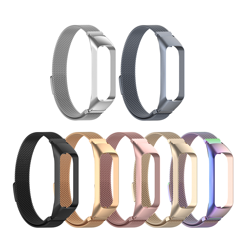 High Quality Stainless Steel Wrist Band Strap  For Samsung Galaxy Fit E/SM-R375 Milanese Stainless Steel Wrist Strap Wristband