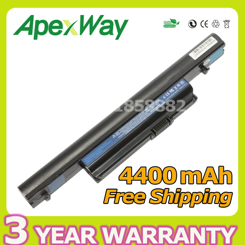 Apexway 4400mAh Laptop Battery For Acer Aspire 3820 3820T 4820T AS10B5E AS10B61 AS10B6E AS10B71 AS10B73 AS10B6E AS10B75 laptop battery for acer aspire 3820 3820g 3820t 4820 4820t 5820 5820t 5820tg as10b31 as01b41 as10b51 as10b5e as10b6e as10b73