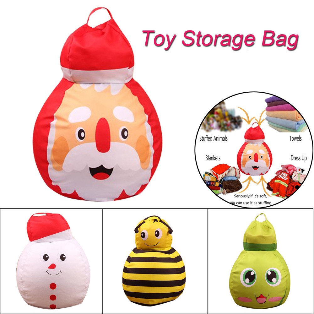 Squishy Cute Kids Cartoon Christmas Toy Storage Bean Bag Soft Pouch Animal Fabric Chair Funny Stress Reliever Stress Relief Toy