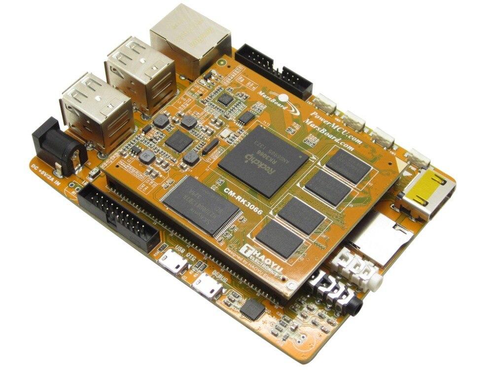 все цены на module Marsboard RK3066 Quad Core 1GB DDR3 Mali-400 MP GPU Dual Core ARM Cortex A9 Development Board USB HDMI Ethernet Interface онлайн
