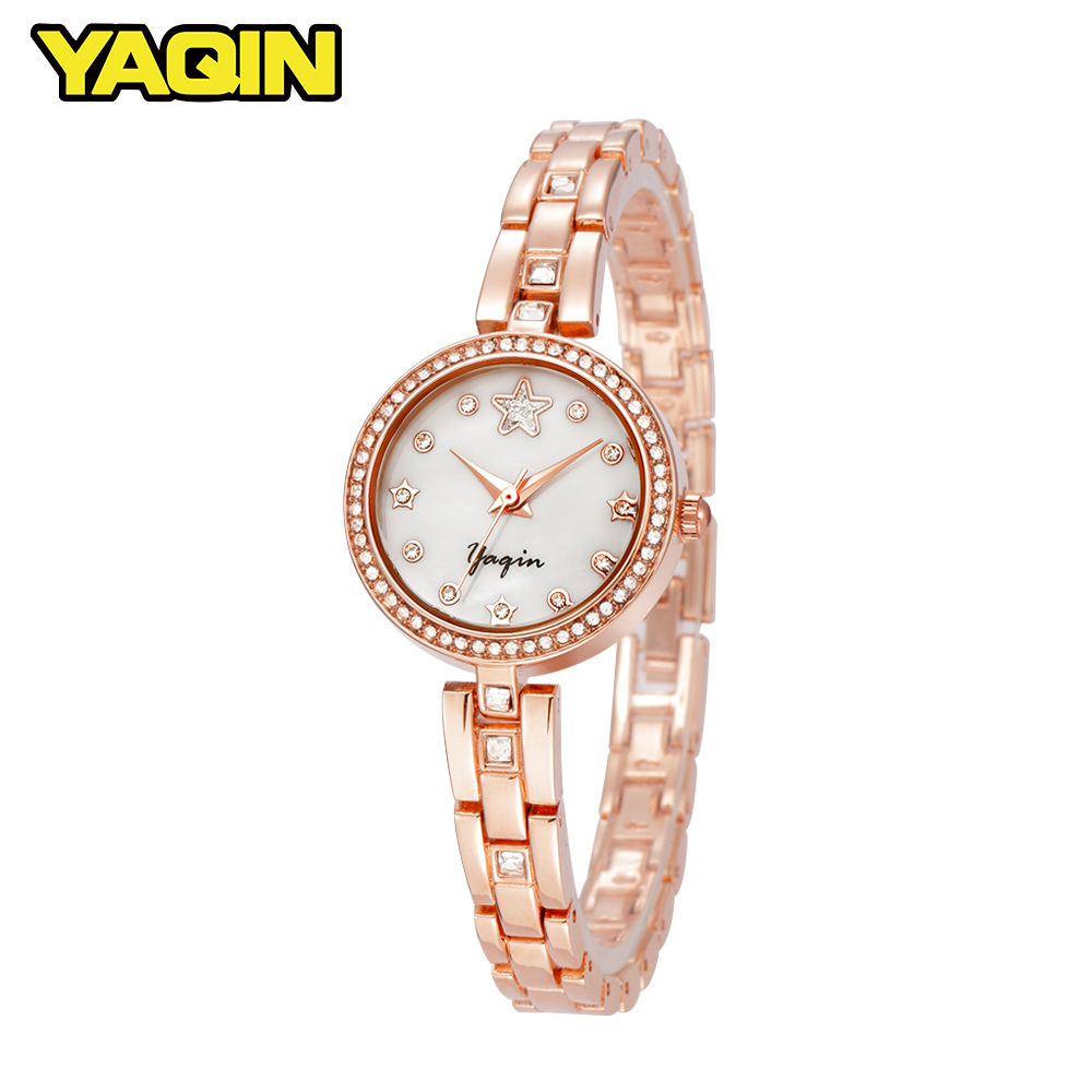 YAQIN New Fashion Brand Women Watch Star Diamond Pipe Business Casual Waterproof Quartz Bracelet Watch все цены