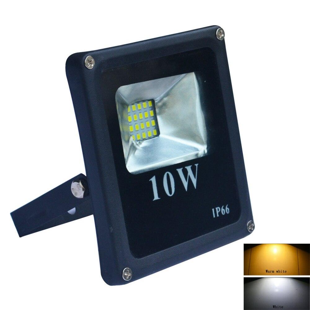 Jiawen 10W IP66 Warm white/Cool white LED Floodlight - Black (AC 220V)