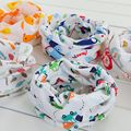 2016 New Design Cotton New Born Baby Bibs Cute Animal Flower Fruit Print Baby O-neck Scarf Spring Autumn Winter Ring Collar