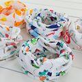 2016 new design algodão new born baby bibs animal bonito Anel de flor Fruta Impressão Bebê O-pescoço Cachecol Primavera Outono Inverno colarinho