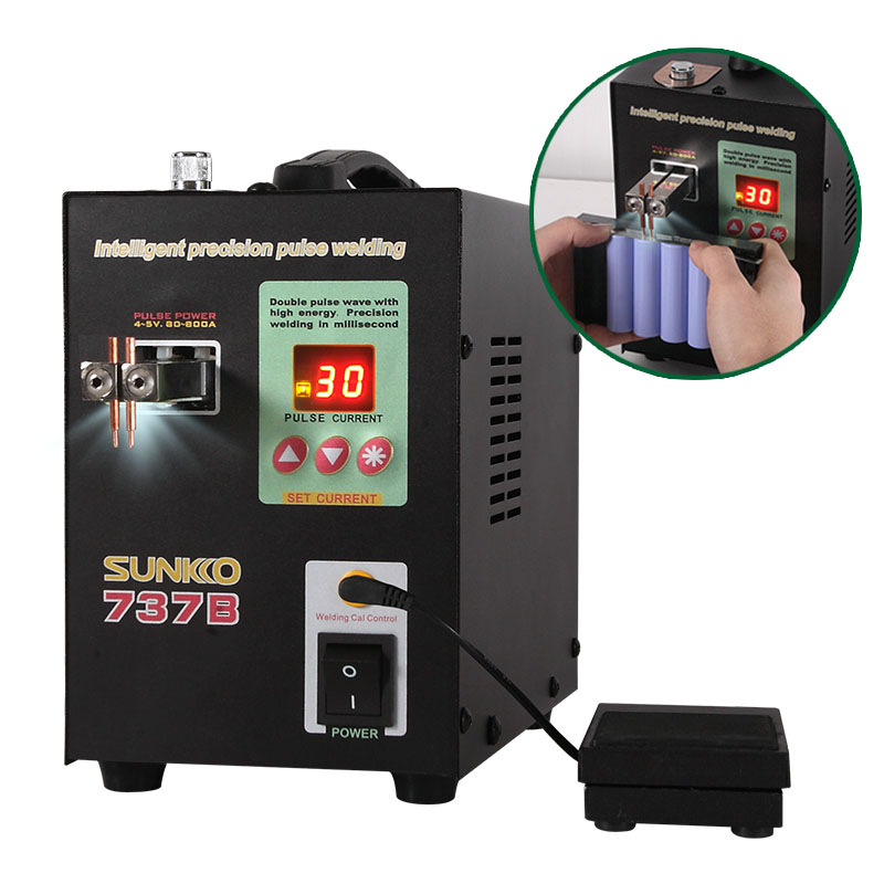 737B Spot Welder Precision Pulse Battery Spot Welding Machine for 18650 Battery Pack control board of s787a 18650 battery universal spot welding fixture for spot welder