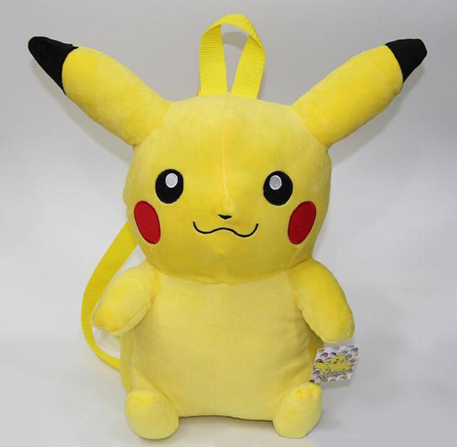 Pikachu saco De Pelúcia Cartoon Mochila de Alta Qualidade mochila de Pelúcia Bonito Presente das Crianças Dos Miúdos Dos Desenhos Animados mochila Boneca de Pelúcia