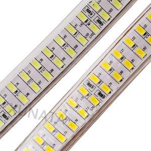 Image 3 - 5730 Bouble Row LED Light Strip 110V 220V 240Leds/m LED Strip Waterproof Ribbon Tape White/Warm White With EU/UK/US Switch Plug