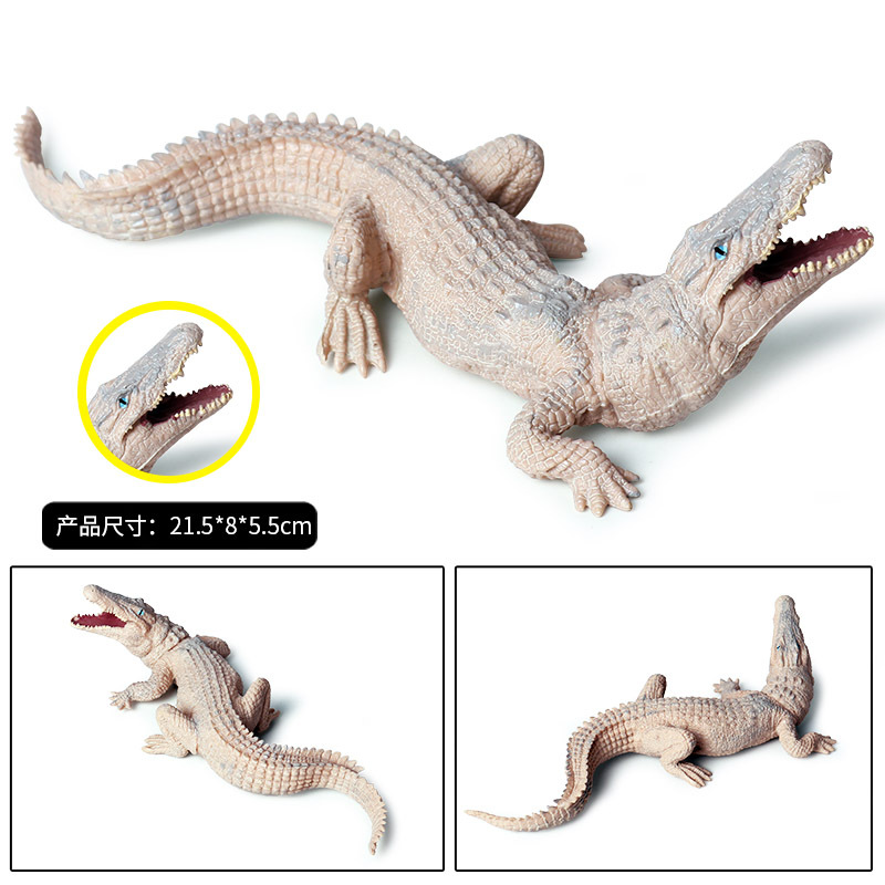 Купить с кэшбэком Amphibian Crocodile Model for Children Solid Simulation Wild Boar Crocodile Nile Crocodile Alligator Wildlife Toys