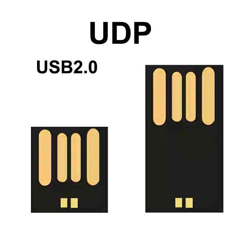 UDP Memory Flash 8GB 16GB 32GB 64GB 128GB USB2.0 Short Long Board Udisk Semi-finished Chip Pendrive Factory Wholesale