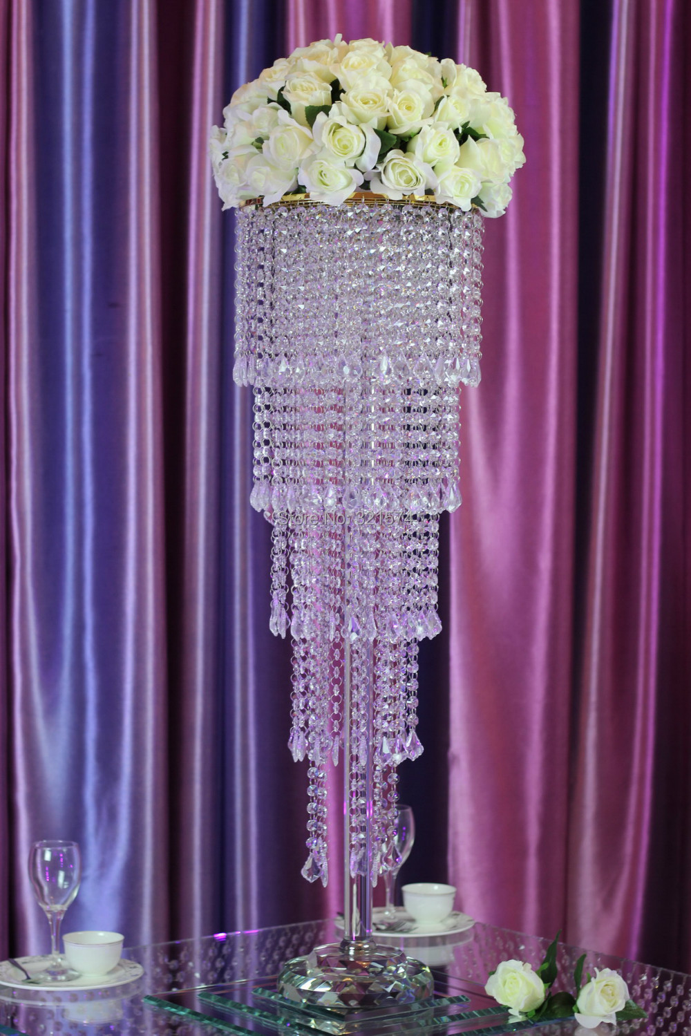 Aliexpress buy tall round crystal flower stand