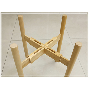 Image 1 - Newly Adjustable Plant Stand Holder Rack Wooden Sturdy for Flower Potted Indoor Outdoor