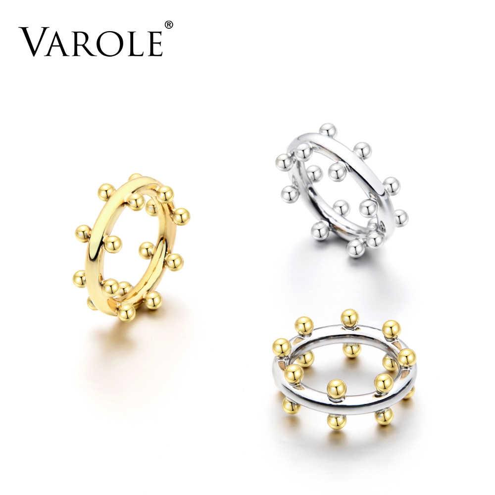 VAROLE двухрядный шариковый подшипник кольца для предложения золотого цвета кольцо среднего размера 100% Медные кольца для суставов палец для женщин ювелирные изделия anel