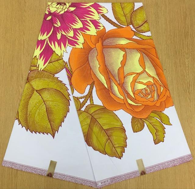 African Ankara Hollandais Wax Floral Print Cotton Fabric 6Yards