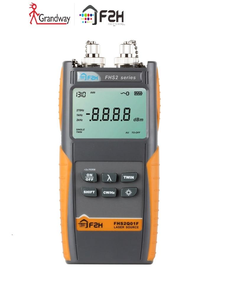 [Grandway Originale] FHS-2Q01F sorgente laser ottico, 850/1300/1310/1550nm, FC/PC connettore,-5dbm, con borsa per il trasporto