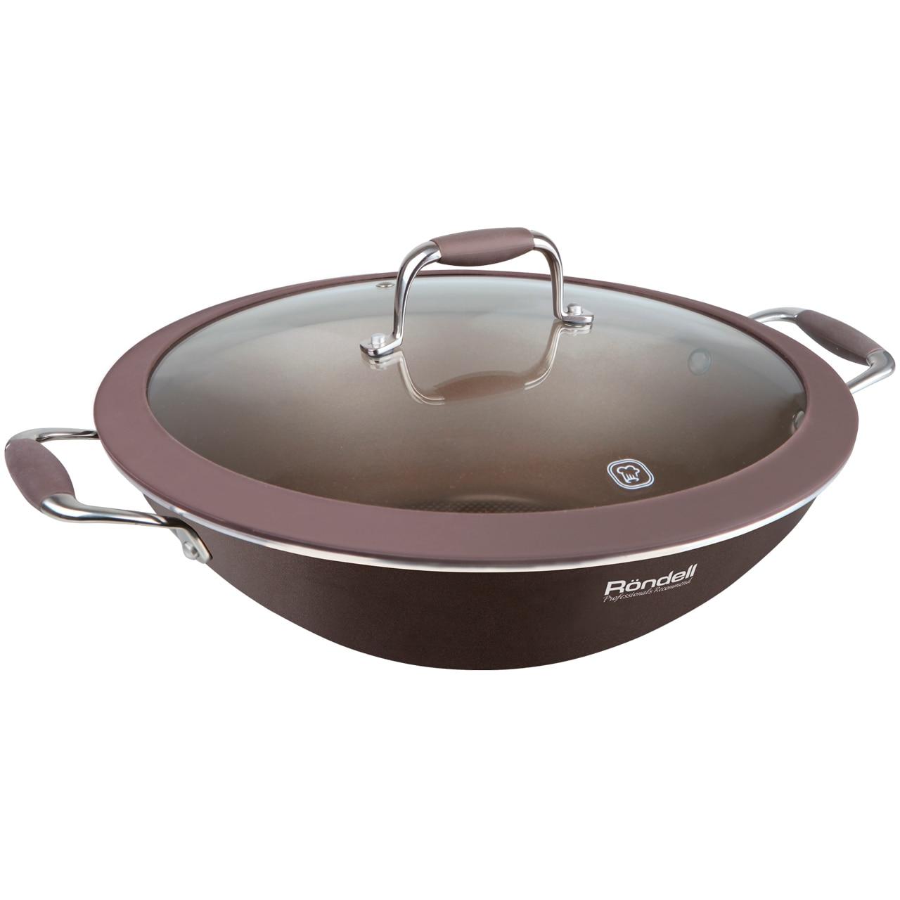 Wok with lid Rondell Mocco 4,5 L RDA-552 цена и фото