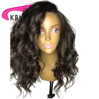 KRN Pre Plucked Lace Front Human Hair Wigs With Baby Hair 130 Density Wavy Remy Hair Brazilian Lace Front Wigs Natural Hairline