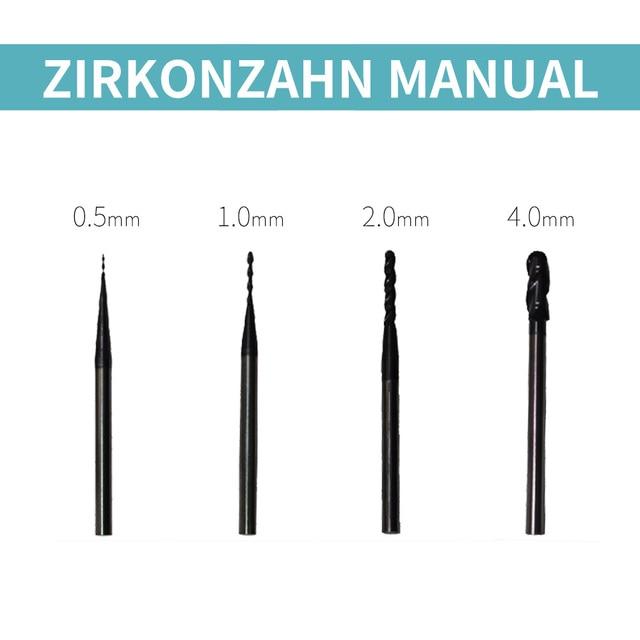 zirkonzahn m1/m5 milling burs