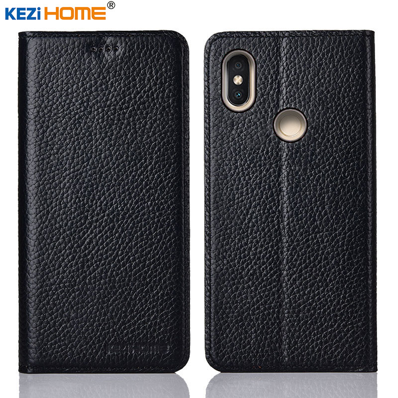 for Xiaomi Redmi Note 5 case KEZiHOME Litchi Genuine Leather Flip Stand Leather Cover capa For Redmi note5 Pro Phone casesfor Xiaomi Redmi Note 5 case KEZiHOME Litchi Genuine Leather Flip Stand Leather Cover capa For Redmi note5 Pro Phone cases
