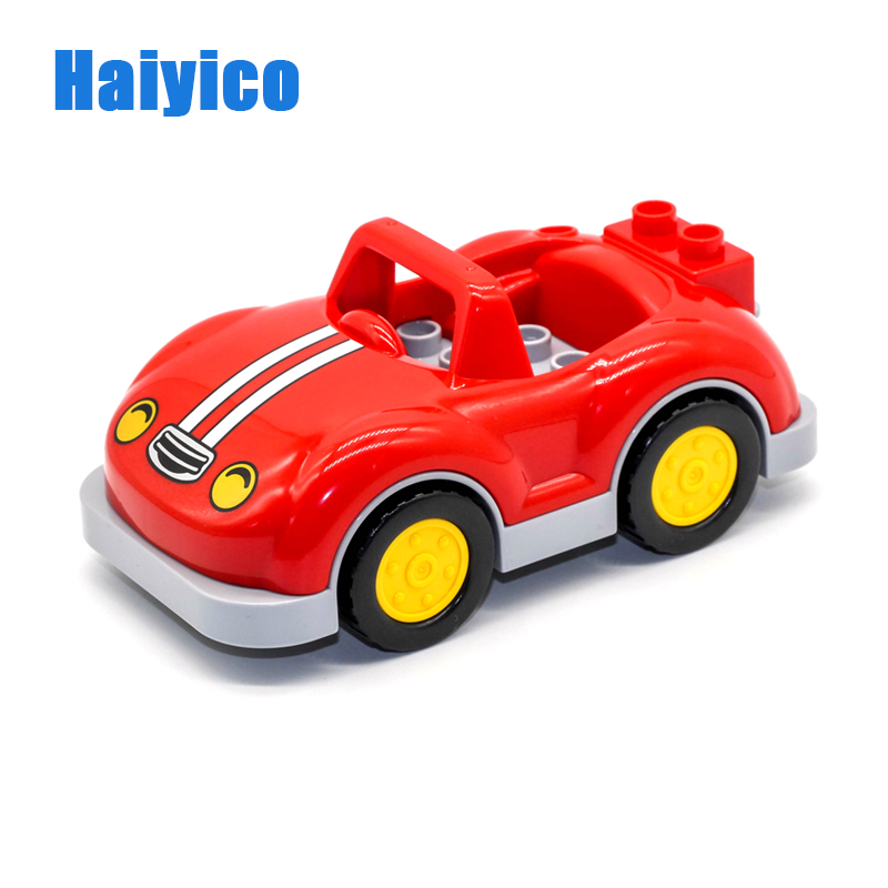 Education Model Car truck Big Blocks Roadster vehicle family games Compatible Duplo Bricks Accessory Figure Toys children Gift