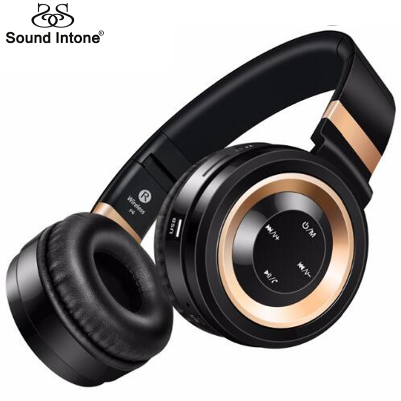 Sound Intone P6 Bluetooth Headphone Support 32G TF Card FM Radio Wireless Headphones With Mic Headsets For Xiaomi iPhone PC MP3 sound intone p30 wireless headphones with mic support tf card bluetooth headphone over ear headsets for xiaomi for iphone pc