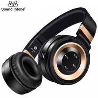 Sound Intone P6 Bluetooth Headphone Support 32G TF Card FM Radio Wireless Headphones With Mic Headsets For Xiaomi iPhone PC MP3