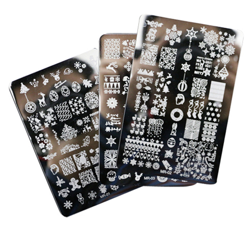 3Pcs nail stamping plates nail art decorations stamp decoration Designs Nail Art Image stamp for nails