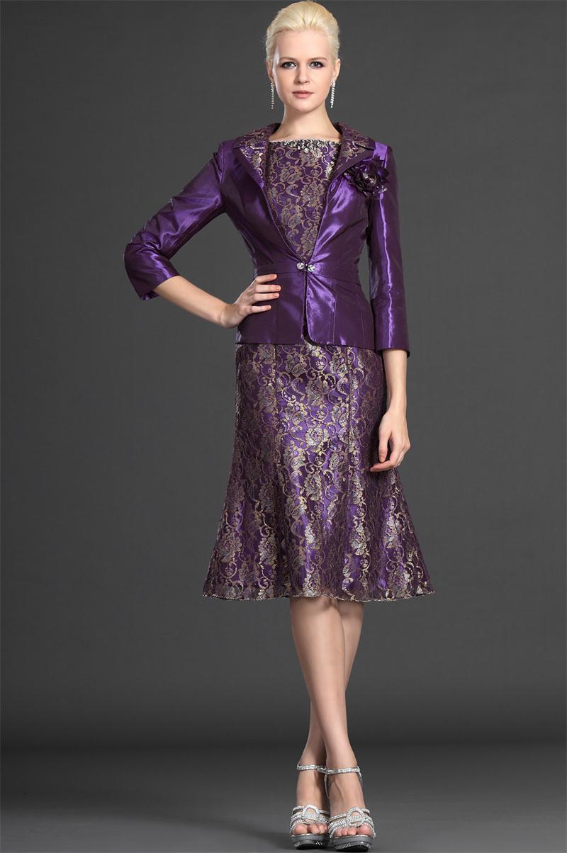 A-line-2knee-length-three-quarter-short-lace-purple-gorgrous-plus-size-wedding-guest-outfits-purple