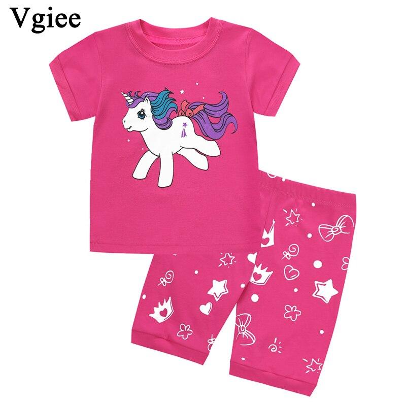 Vgiee Kid Clothes Boys Girls Fashion Unicorn Cartoon 2019 Baby Boy Summer Fall Outfits Children Set