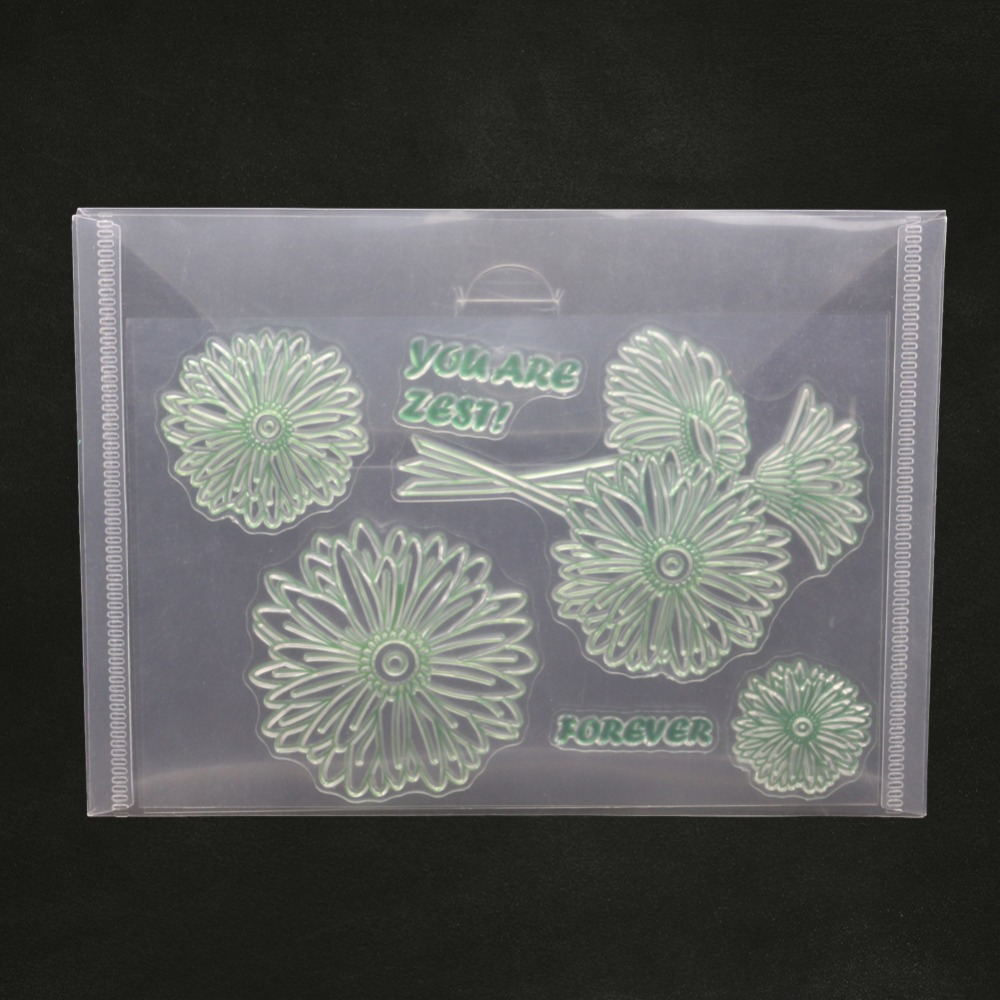 DIY Transparent Flower Stamp Bump Embossing Scrapbook Embossing Album Decor
