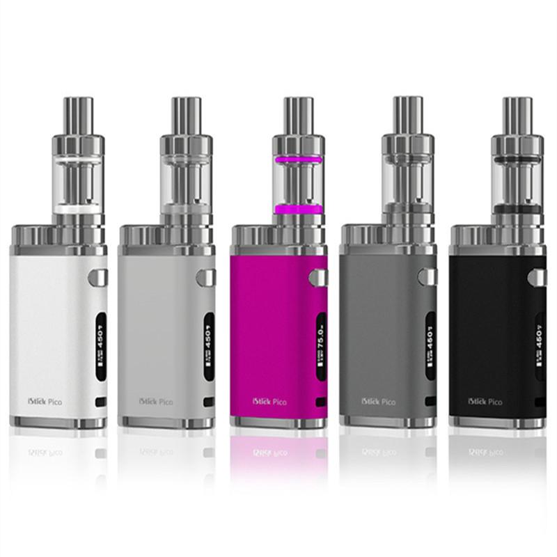 Prix pour 100% Véritable Eleaf iStick Pico 75 W TC Starter Kit Électronique Cigarettes Kit avec 4 ML Melo 3 Atomiseur De Haute Qualité E Cigarette